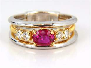 GIA Certified 1.30ct natural vivid red ruby diamonds