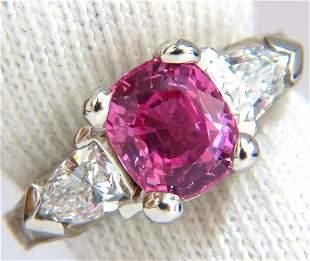 AGL Certified Natural Pink Sapphire Shield cut diamond