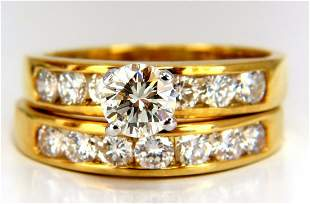 GIA Certified 2.01ct natural round diamond ring +band