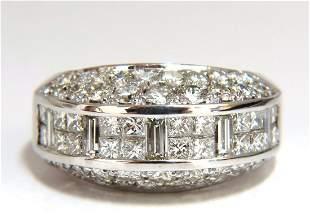 4.00ct diamonds raised contemporary ring three