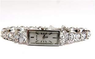 Bulova Ladies diamond watch 14kt. .40ct natural diamond