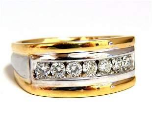 1.25ct Mens Diamond Ring 14kt G/Vs Comfort
