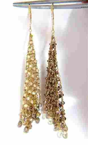 28.15ct Natural Fancy color briolette diamond dangle