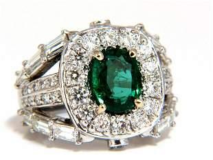 6.00ct natural vivid bright green emerald diamonds ring