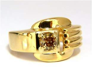 GIA Certified Natural Fancy color Diamond ring 14kt.