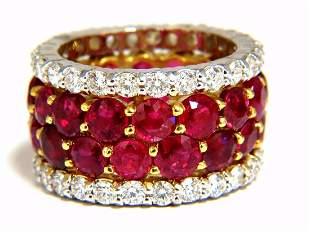 20.40ct Natural Ruby Diamonds eternity Ring 18kt Natura