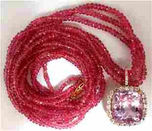 120.81ct Natural GIA Certified Kunzite Diamonds Spinel