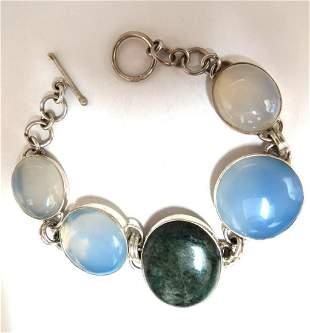 925 Sterling Silver Jasper Chalcedony Moonstone Silver