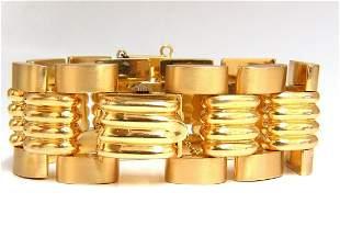 Estate LUVA 14kt gold watch ladies cuff bracelet