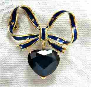 10ct Lab Sapphire Royal Blue Patriot Democrat Love