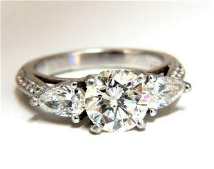 GIA Certified 1.77ct + 1.46ct Round Diamond Engagement