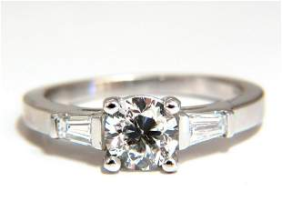 GIA Certified .90ct + .36ct Round Diamond Engagement
