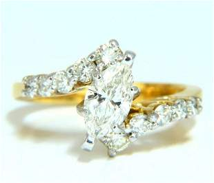 GIA Certified .77ct Marquise Shape diamond ring 14 Kt