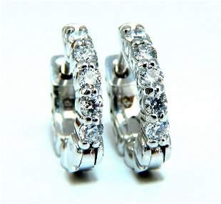 .36ct Natural Diamond Hoop Earrings 14 Karat Petite Gir