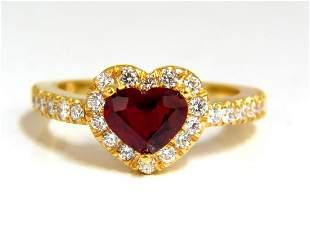 GIL Certified 1.62ct Natural Heart Cut Ruby Diamonds