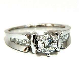 .87ct Natural Round Diamond Engagement Ring 14 Karat