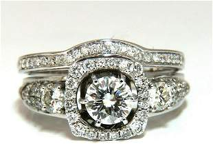 GIA certified .74ct. Round cut diamond & 1.00ct Engagem