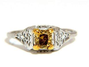 .57ct Natural Fancy Orange Brown Diamond Vintage Gilt