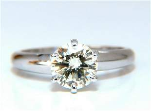 GIA Certified 1.01ct round cut diamond solitaire ring