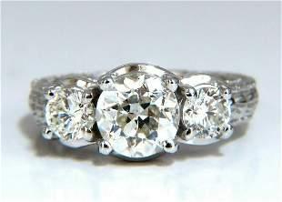 1.70ct Natural Round Diamond Engagement ring Classic