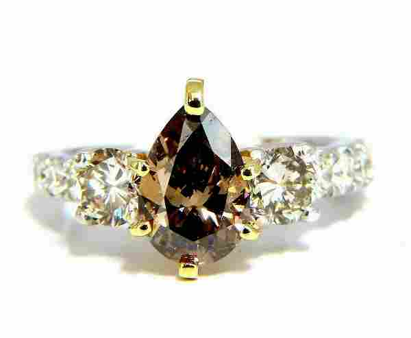 1.50ct Natural Fancy Brown & 1.30ct Diamonds Mod Three