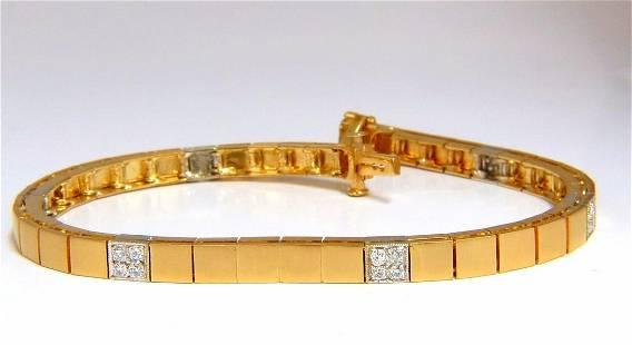 .40ct diamonds box bead set bracelet 14kt satin brush