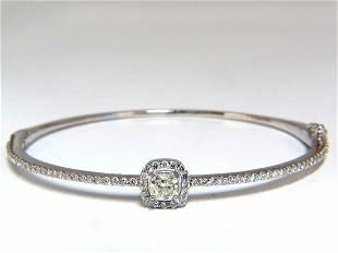 .95ct natural round diamond cluster halo bangle