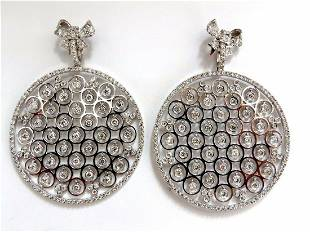 5.70ct natural diamonds floating grill dangle earrings