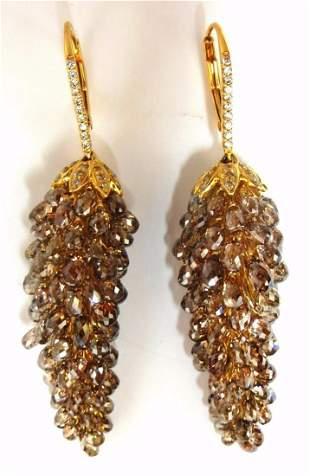 60.15ct Natural Fancy color briolette diamond dangle