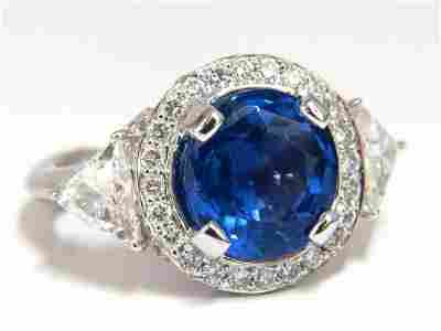 GIA Certified 7.10ct Natural No Heat Sapphire Diamond