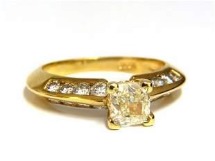 GIA Certified 2.51ct. Fancy Yellow Cushion cut diamond