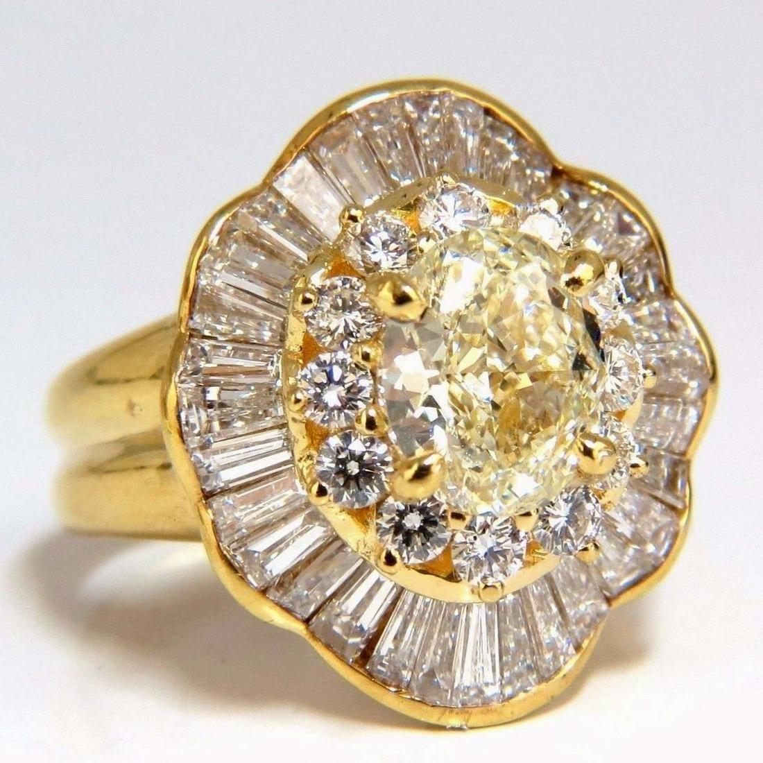 GIA Certified 4.51ct Natural Yellow Diamond Ring 18Kt