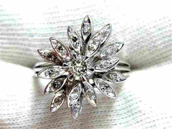 1.10ct Diamonds Profile Cluster Top 18kt ring Vintage