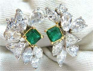 10.90ct Natural Emerald Diamond Crescent Cocktail Ear