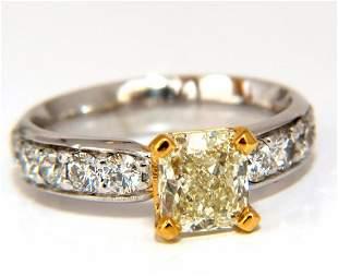 GIA Certified 2.20ct. Cushion cut diamond ring Platinum