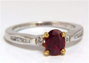 GIA Certified .98ct Natural Ruby Ring 14kt