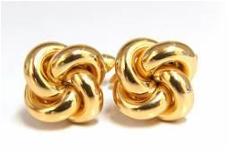 14kt gold Knot Twist cufflinks