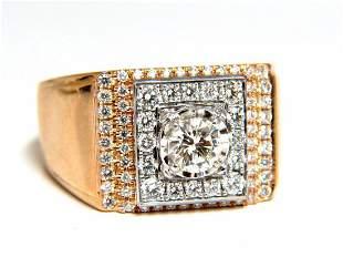 .95ct natural diamonds mens ring 18kt