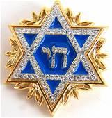 1.18ct round natural diamonds Jewish star pendant 14kt