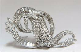 8.00ct diamonds platinum art deco brooch
