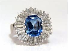GIA Certified 6.46ct Natural No Heat Sapphire Diamonds
