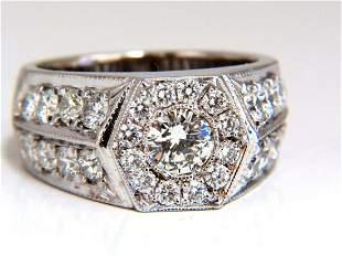 GIA Certified 2.29ct natural diamonds mens ring 18kt