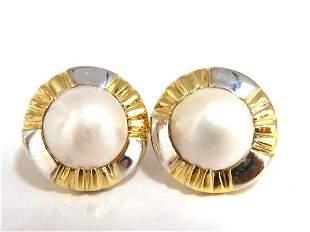 14kt Mabe Pearl Clip Earrings