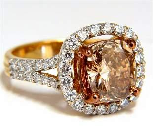 GIA certified 2.99ct Fancy Brown Yellow Diamond ring