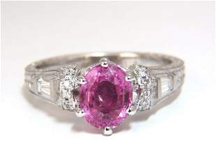 GIA Certified 1.90ct Natural No Heat Pink Sapphire