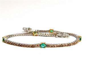 3.00ct green natural emeralds fancy color diamonds