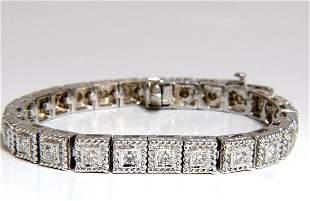 2.30ct natural diamonds bead box rope twist tennis brac