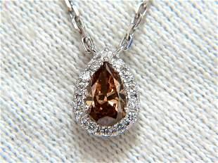.71ct Natural Fancy Brown Diamonds Necklace 14kt