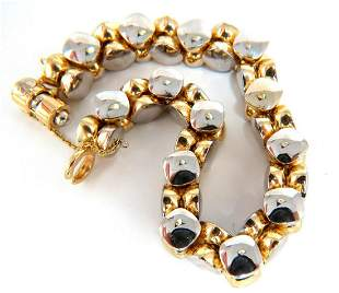 14kt. Gold Italian Rare Link Bracelet 41 Gram two tone