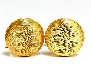 18kt 3D textured Gold cufflinks